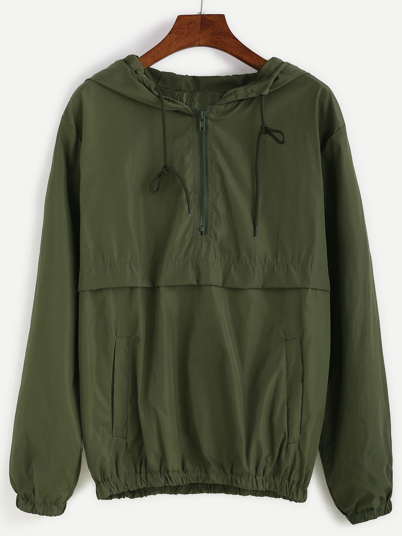 Shop Army Green Hooded Zipper Sweatshirt online. SheIn offers Army Green Hooded Zipper Sweatshirt & more to fit your fashionable needs.