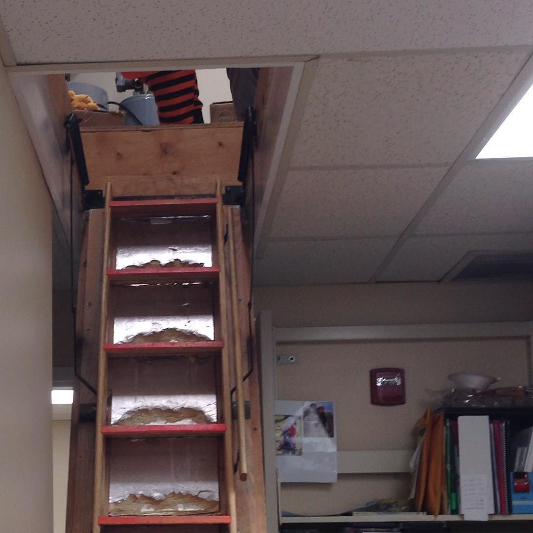Did you know the #kentislandlibrary has an attic? It's where we keep all our Halloween stuff.