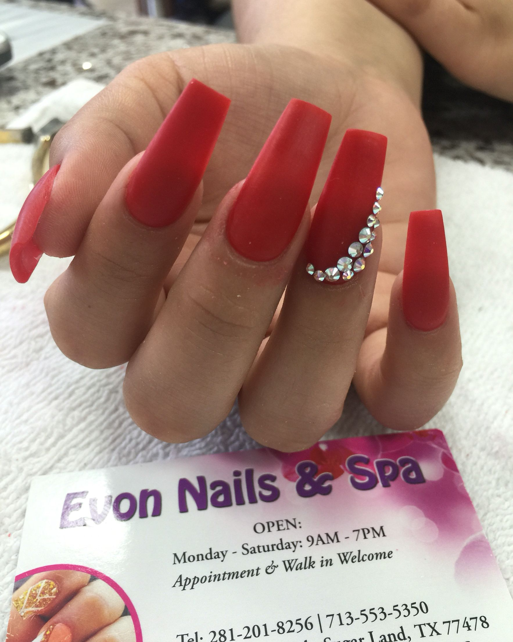 Evon nails & spa | Evon nails & spa | Pinterest | Nail spa and Red nails