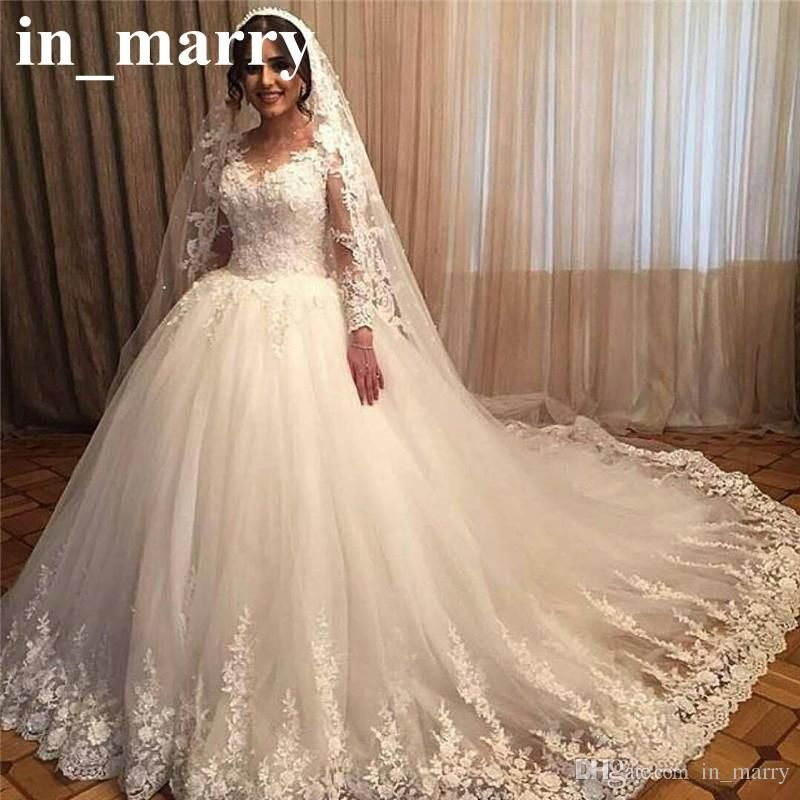 Romantic Victorian 3D Floral Wedding Dresses 2017 Ball Gown Long ...