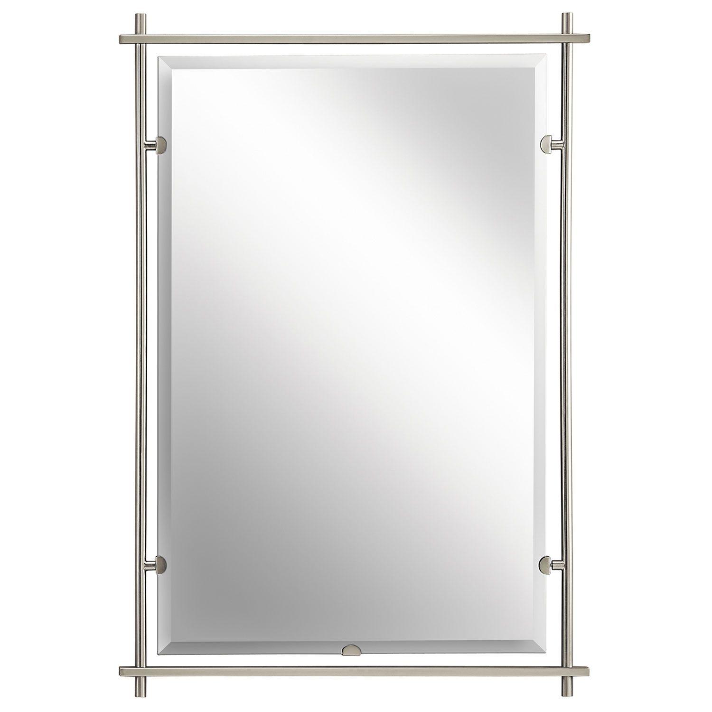 Kichler Eileen Brushed Nickel Mirror Brushed Nickel Mirror - Kichler bathroom mirrors