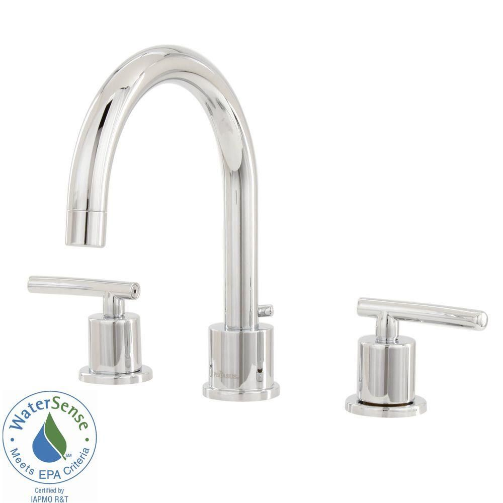 Glacier Bay Dorset 8 In. Widespread 2 Handle High Arc Bathroom Faucet  Ceramic