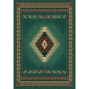 United Weavers of America Manhattan Tucson Teal/Red Rug, Getting this for my living room