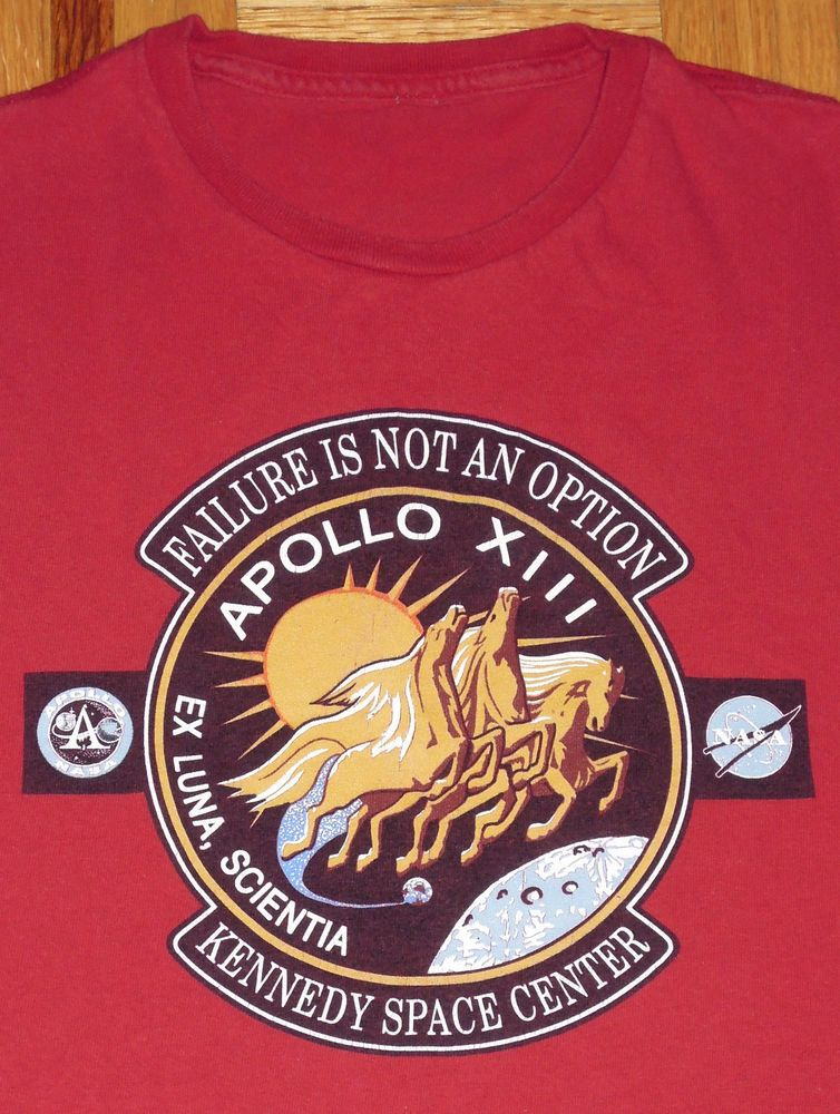 bc8459909ec Space T Shirts Ideas #spaceshirts #spacetshirts NASA Apollo XIII Kennedy  Space Center Red T Shirt Astronauts Size Medium Tagless - $8.50 End Date:  Saturday ...