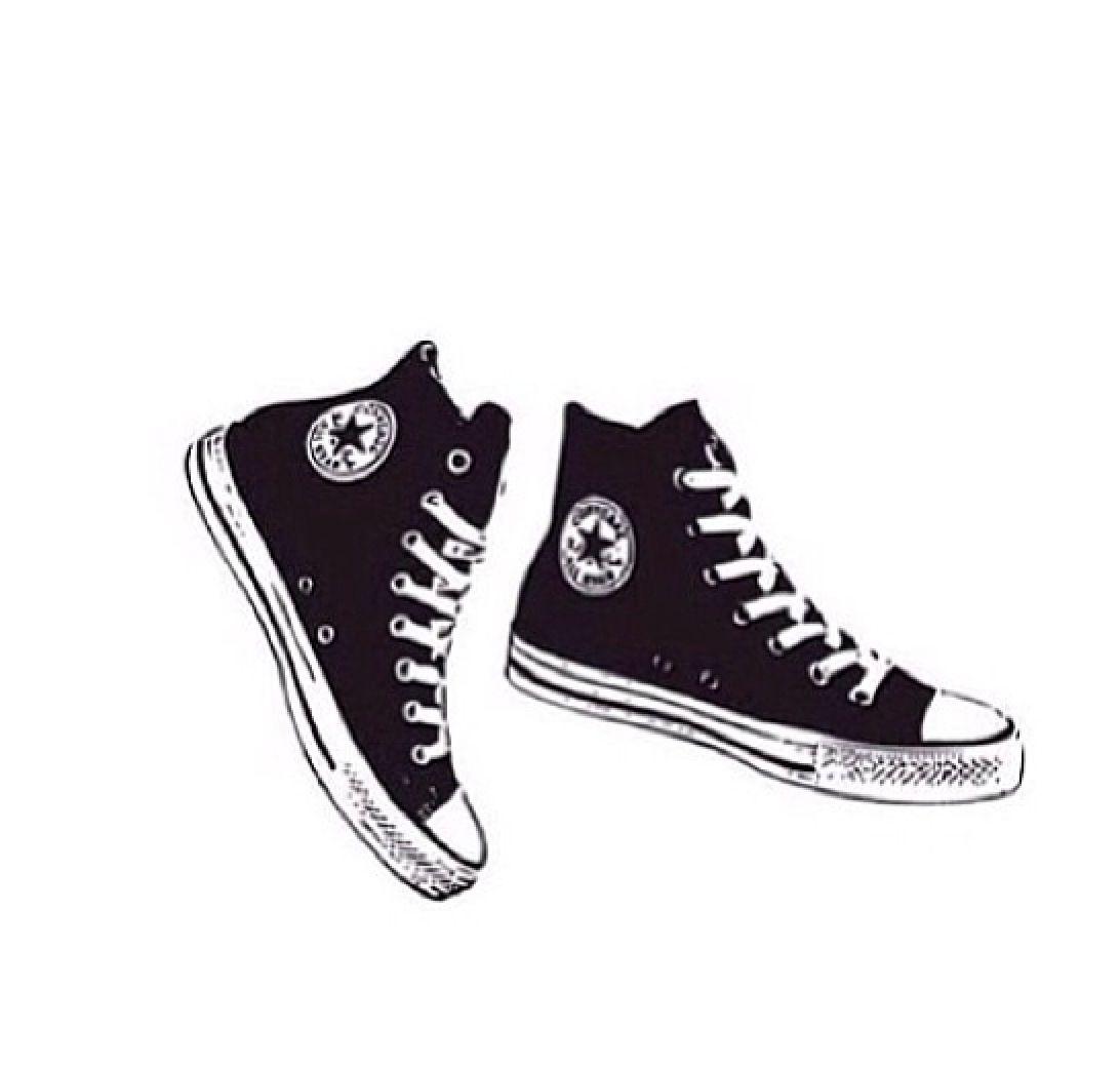 Nike Chaussures Noir Et Blanc Tumblr Transparents