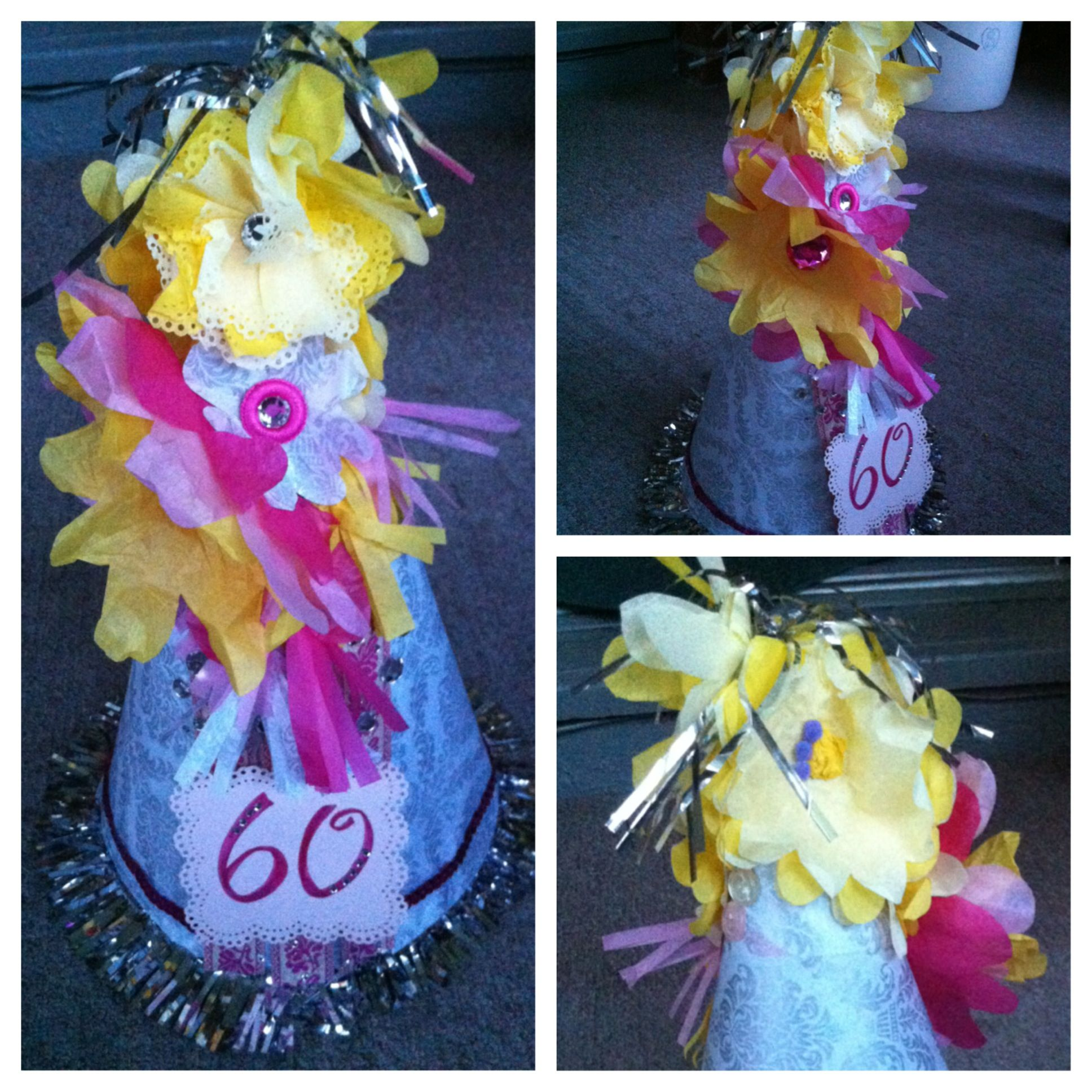 Custom Party Hat I Made For My Moms 60th Birthday