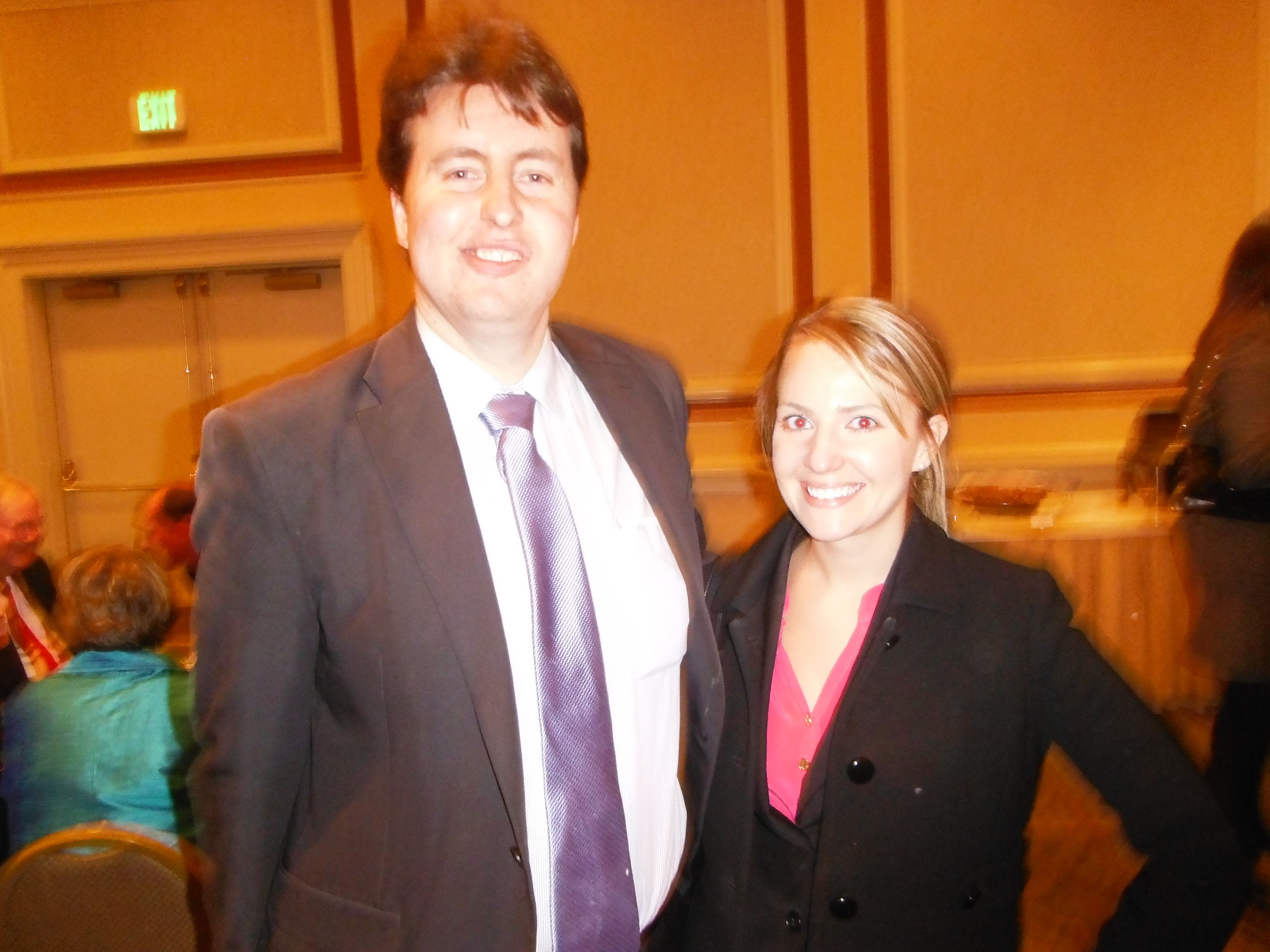 Attorney Evan Guthrie With Sarah Woodard Law Clerk For The Honorable Stephanie P Mcdonald At The Charleston County Bar Association An New Law Guthrie Law Firm