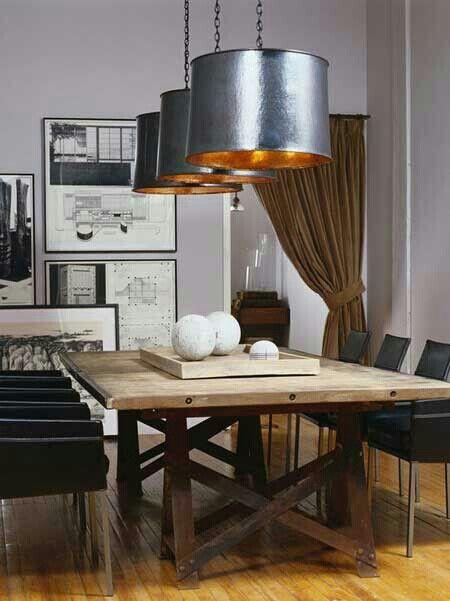 Mesa comedor rustica con sillas modernas mesas for Proposito del comedor buffet