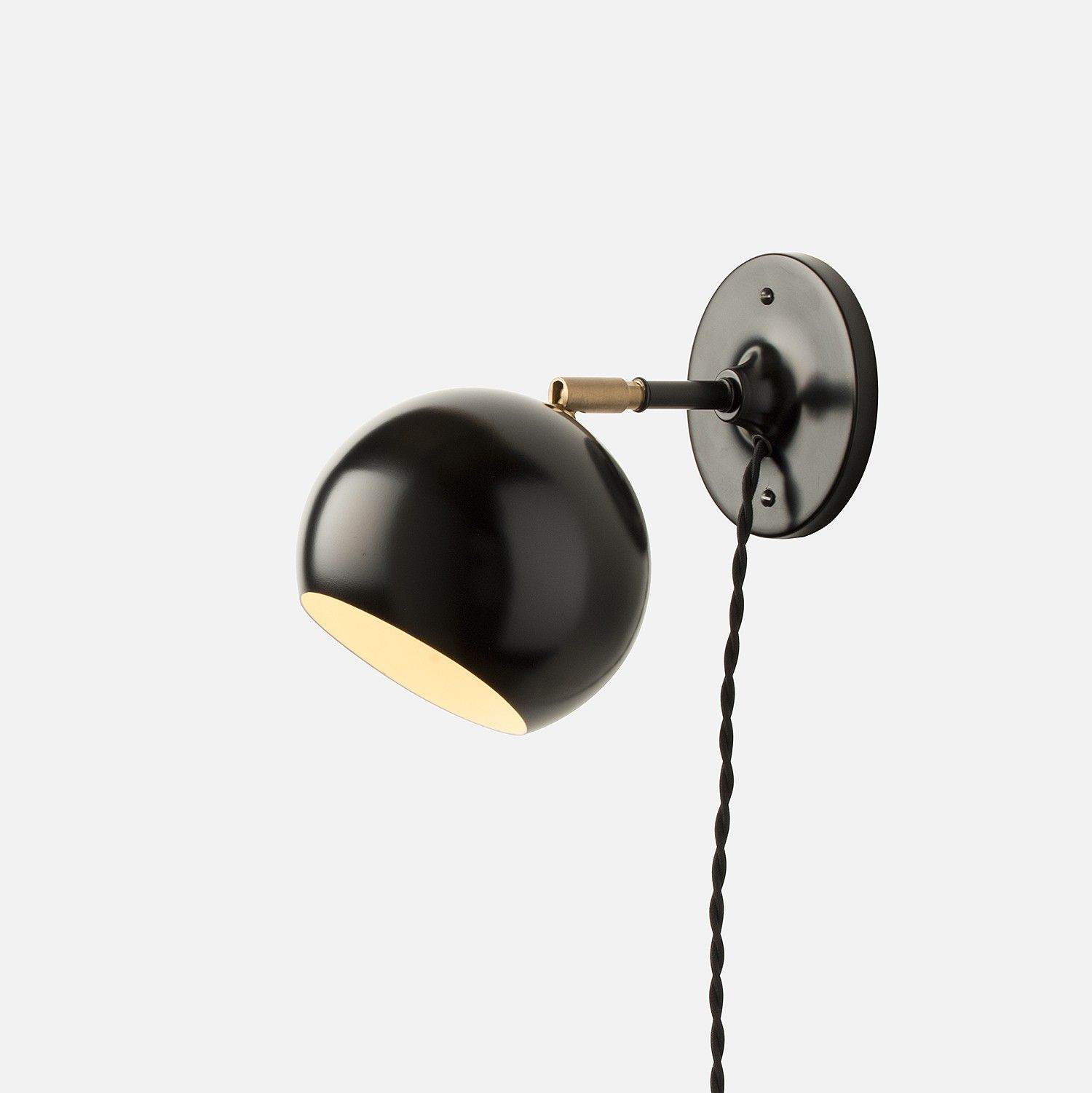 Isaac plug in sconce short arm schoolhouse electric lights and isaac plug in sconce short arm aloadofball Gallery