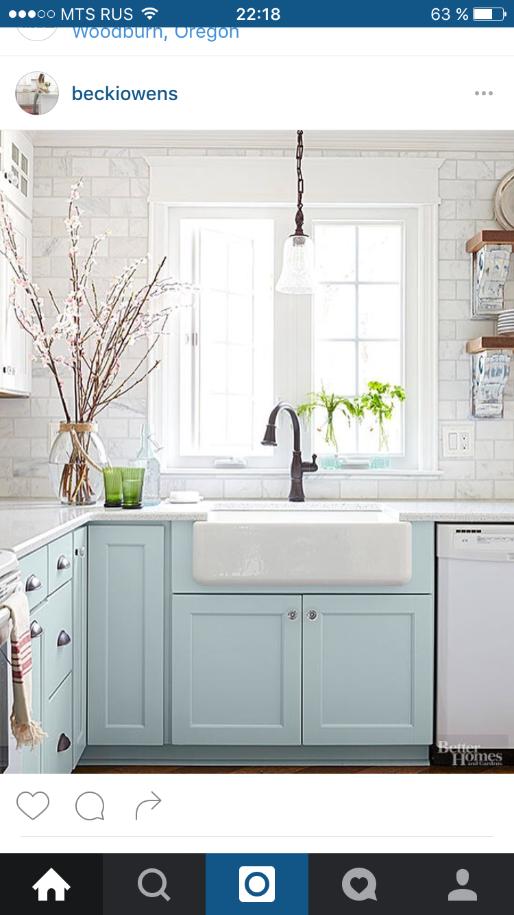 Low window behind kitchen sink  love the light and sink next to the window  kitchen idea in