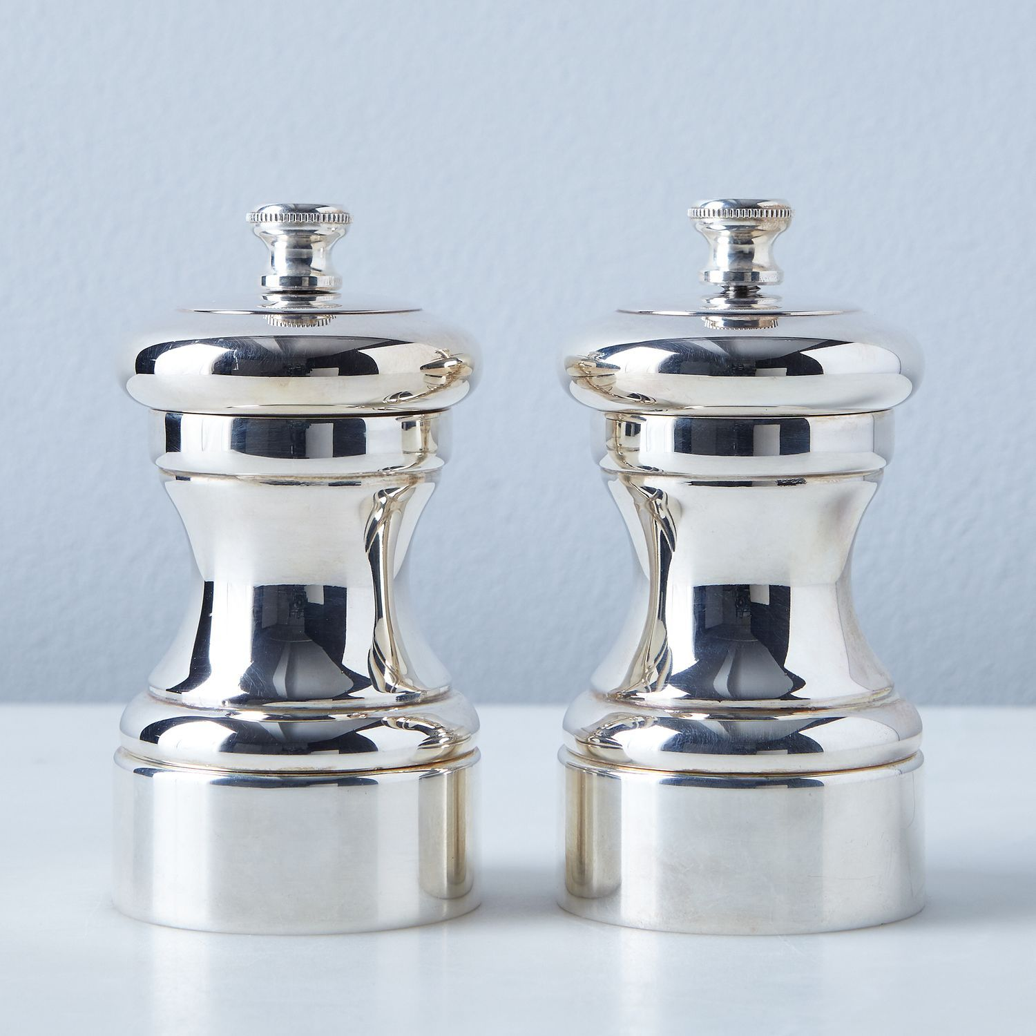 Peugeot Silver Plated Pepper Salt Mills Silver Plate Silver Stuffed Peppers