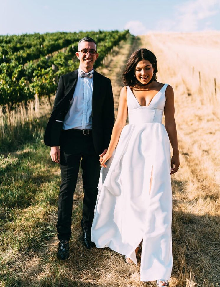 Sarah Wearing The Stunning Taryn Camille Classic Wedding Gown
