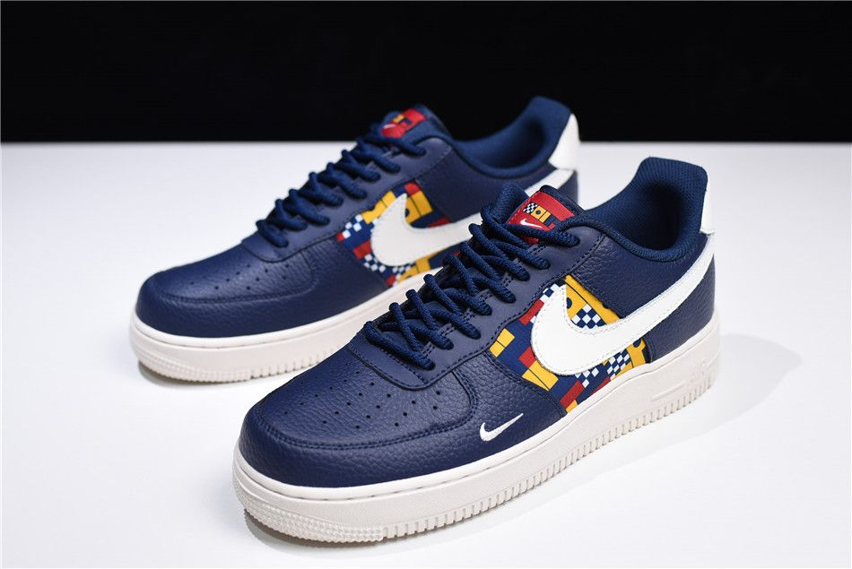 "detailed look d2cce d247b Nike Air Force 1 Low ""Nautical Redux"" Navy White-Yellow AR5394-400 Free  Shipping"