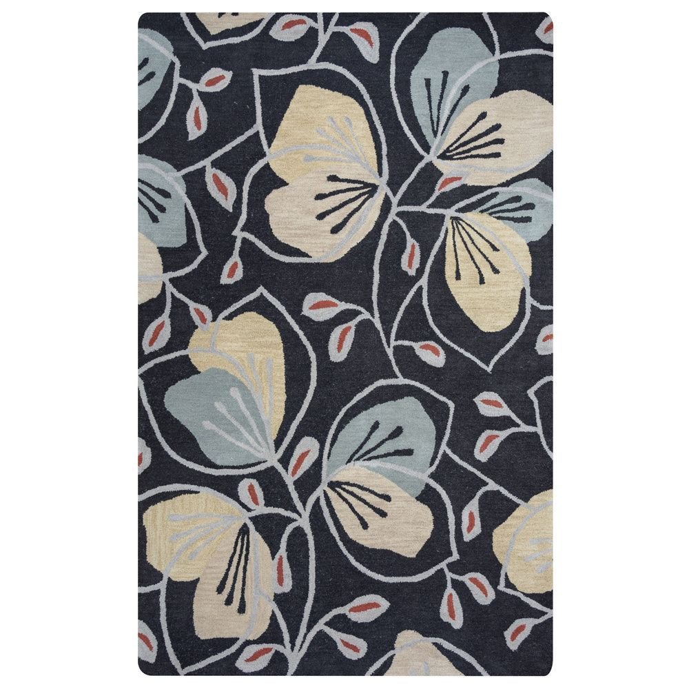 Arden Loft Hand-tufted Grey Floral Lewis Manor Collection