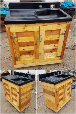 making an outdoor sink with sinks with shipping pallets is a good rh pinterest com