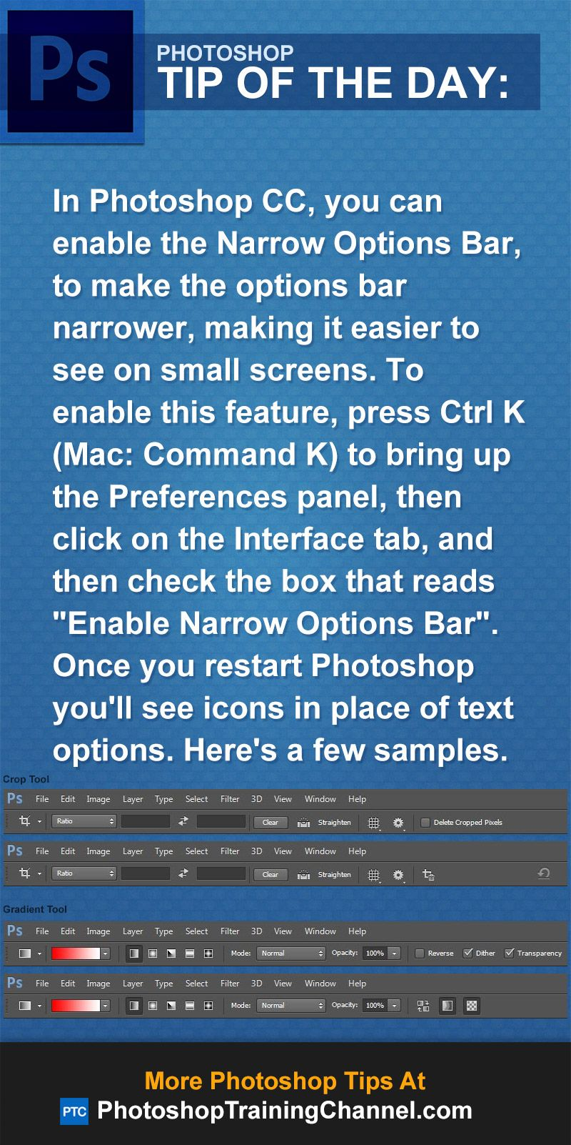 Photoshop cc interface too small