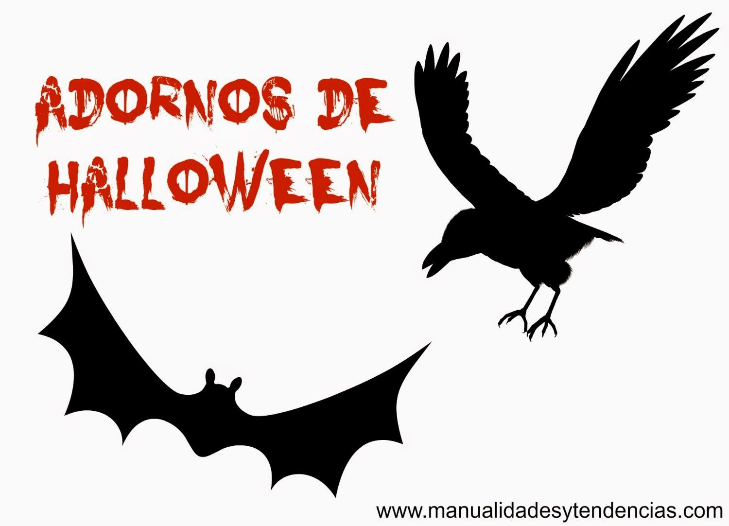 murcilago y cuervo para halloween imprimibles freebies