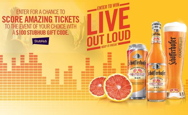 Enter for a chance to score $100 Stubhub gift code to buy event ticket of your