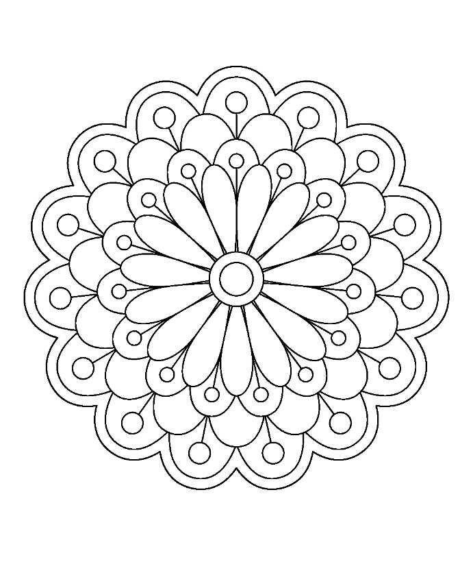 Mandala Para Pintar Con Imagenes Mandalas Imprimir Mandala