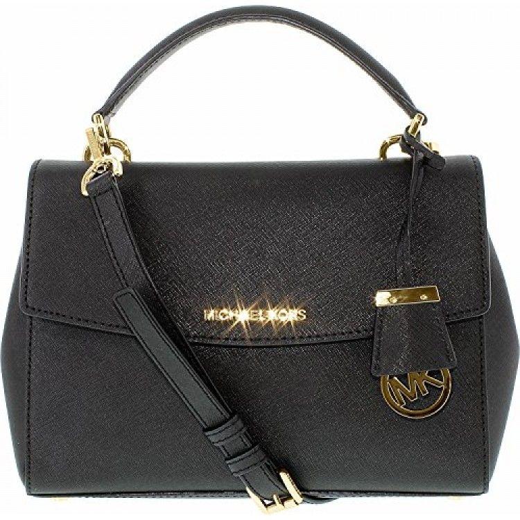 MICHAEL Michael Kors Ava Small Saffiano Leather Crossbody Satchel, Color 857 Ballet