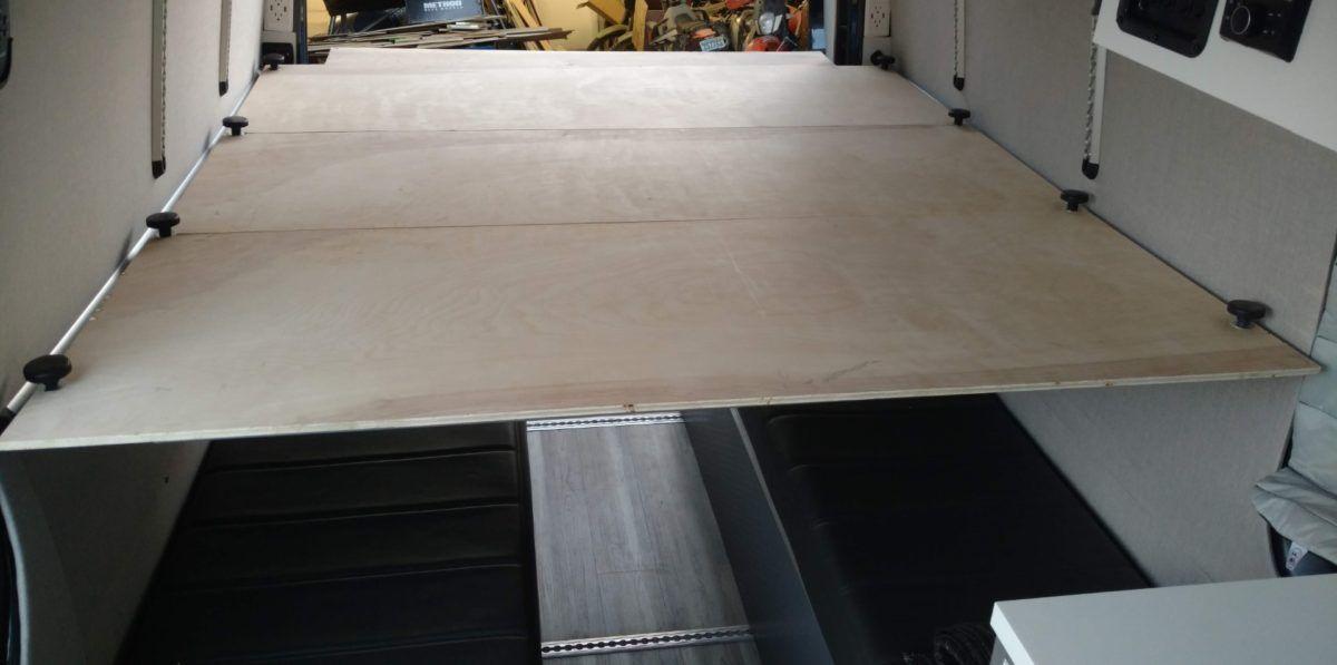 Sprinter Van Diy 3 Panel Platform Bed On L Track Van Bed