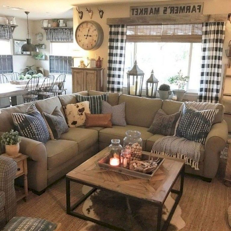 78+ The Top Farmhouse Living Room Design Ideas #industrialfarmhouselivingroom
