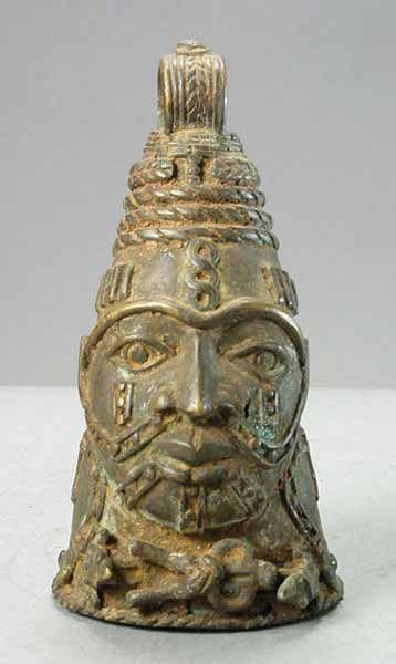 Benin, West Africa. Brass Bell