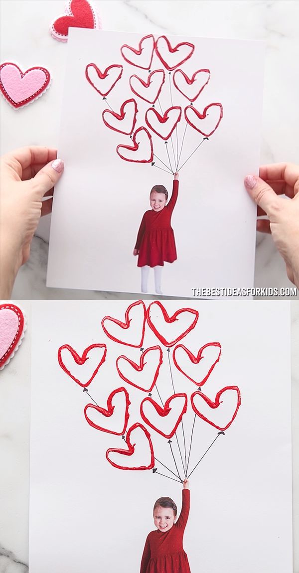 Use paper rolls to make this easy Valentine balloon craft. A fun and simple Valentine's day craft for kids using