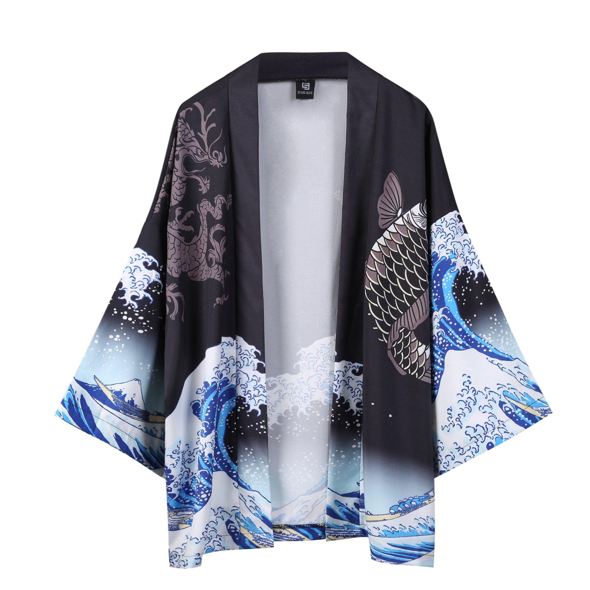 Details about  /Japan Kimono Sakura Blue With White Long Woman Kimono Dressing Gown Cotton M XL