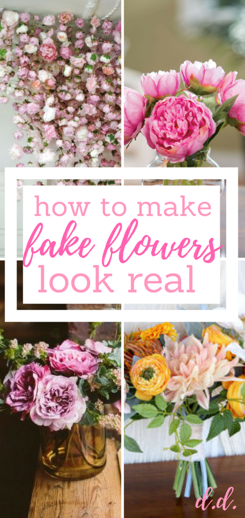 8 Ways To Make Fake Flowers Look Real Flower Garden Flower Gardening Flower Gardening Tips Fake Flower Arrangements Fake Flowers Floral Arrangements Diy