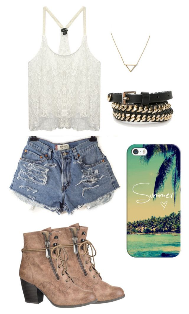 SUMMER.. by kianne-mlv on Polyvore featuring moda, Wet Seal, maurices, Banana Republic, Violeta by Mango and Casetify