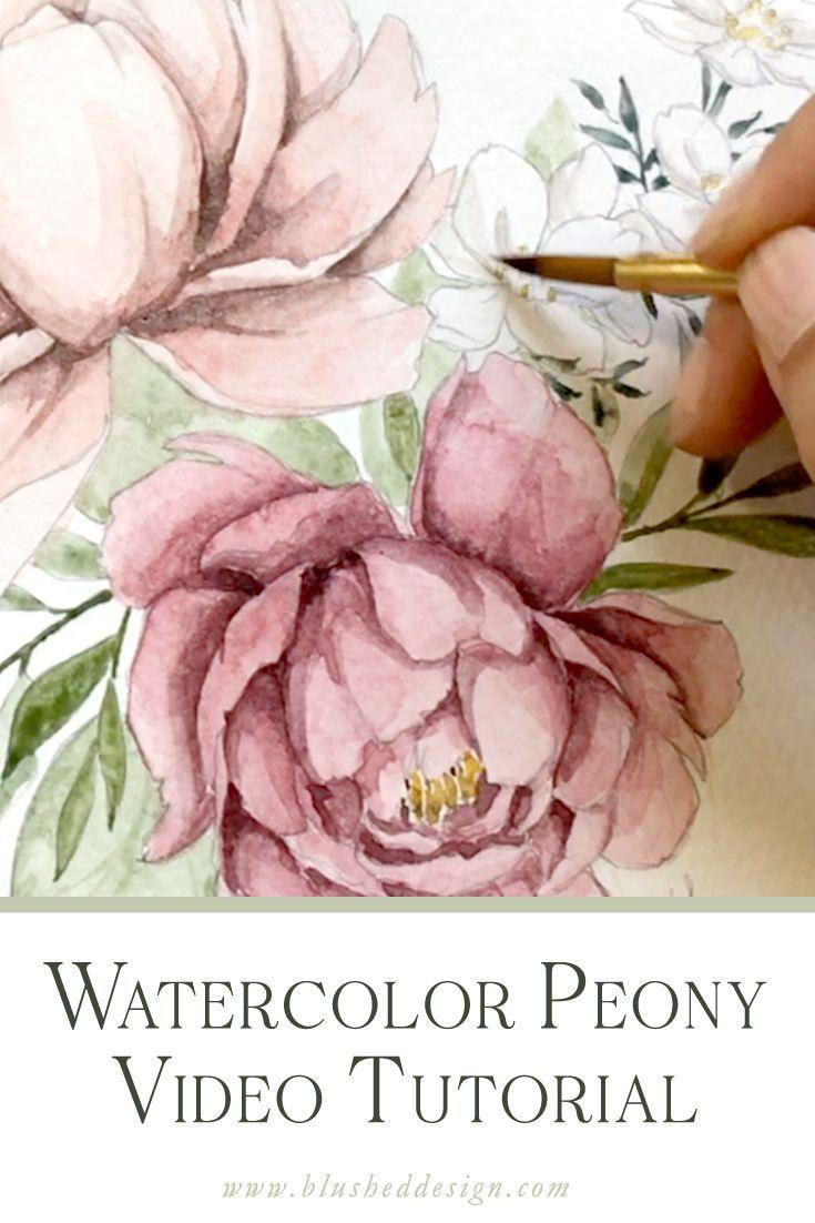 Watercolor Peony Tutorial Wasserfarben Malen Tutorial Wie Man