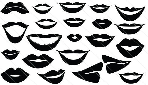 Smiling Lips Vector Graphics Download Lips Silhouette Silhouette Clip Art Vector Graphics Graphic