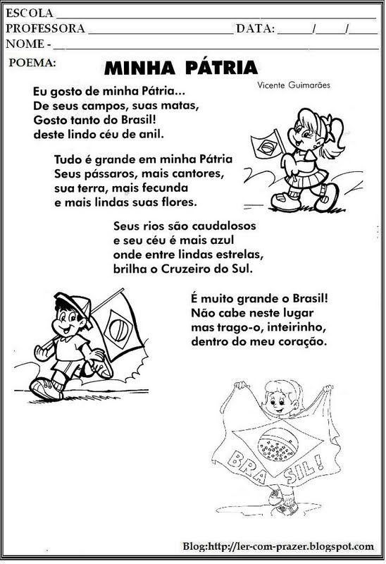 Ler com prazer: 7 de setembro- Dia da Pátria/ Independência do Brasil