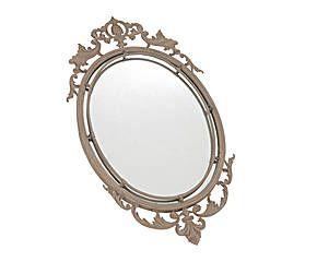 Espejo oval en metal – marrón