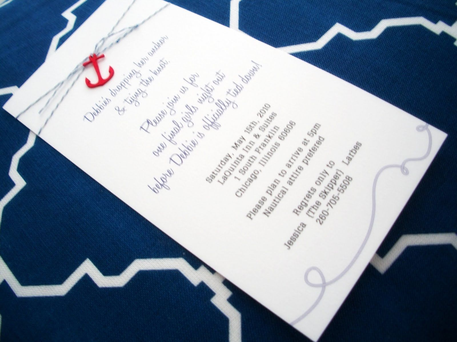 wedding invitation inside message%0A bachelorette invitation wording   chelsey went to town and created the most  lovely invitations beyond