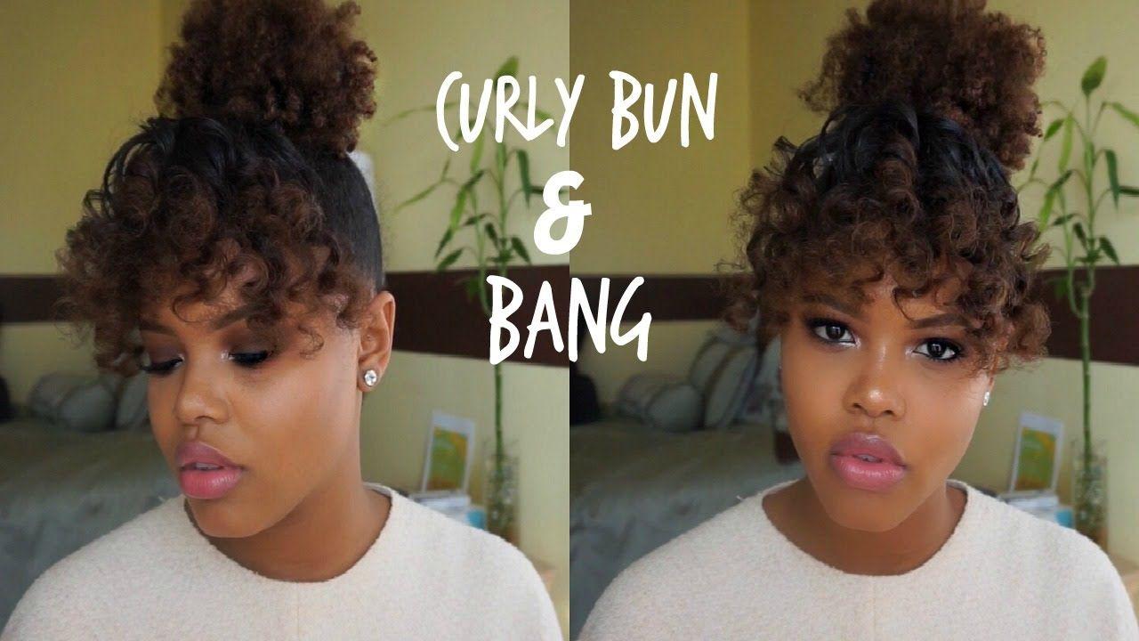 Easy Curly Bang & Bun Tutorial