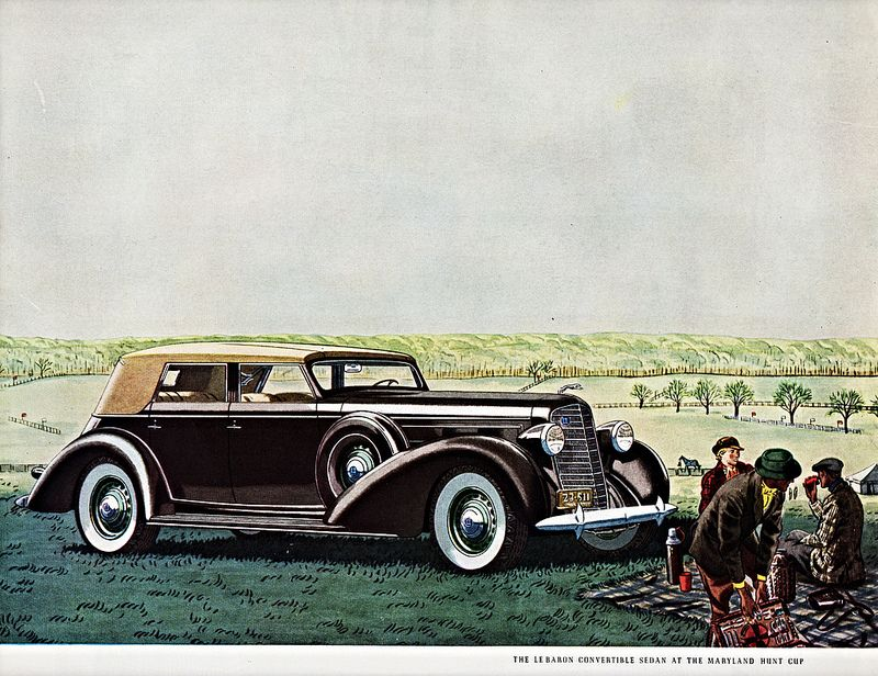 1936 Lincoln Le Baron Convertible Sedan at the Maryland Hunt Cup ...