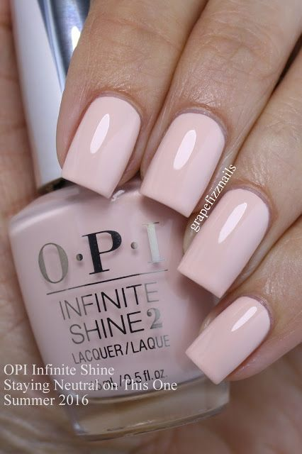 Opi Infinite Shine Staying Neutral On This One Is A Sweet Whisper Pink