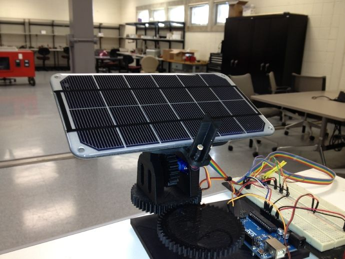 Dual Axis Solar Tracker By Opensourceclassroom Thingiverse Solar Tracker Solar Solar Panels