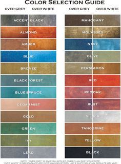 Colors For Dye Stained Concrete, Concrete Resurfacing, Acid Stained  Concrete, Concrete Scoring By