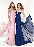 Buy discount Marvelous Chiffon Off-the-shoulder Sheath Evening Dresses With Beads at Dressilyme.com