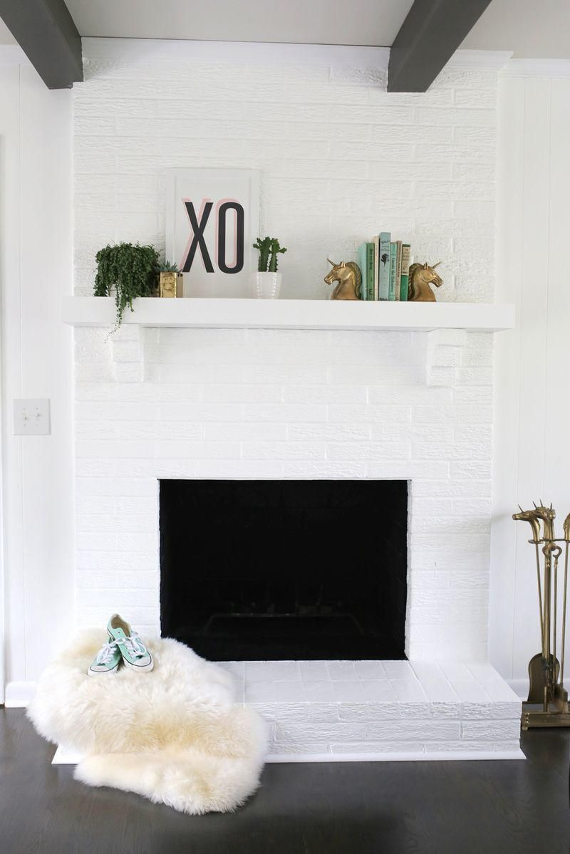 Thrifty Brick Fireplace Remodeling Idea Pinterest Brick