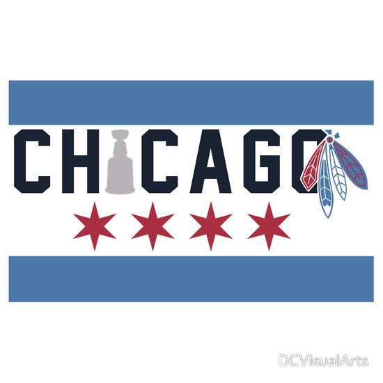 Chicago Flag Inspired By Dcvisualarts Chicago Sports Art Chicago Tattoo Chicago Hockey