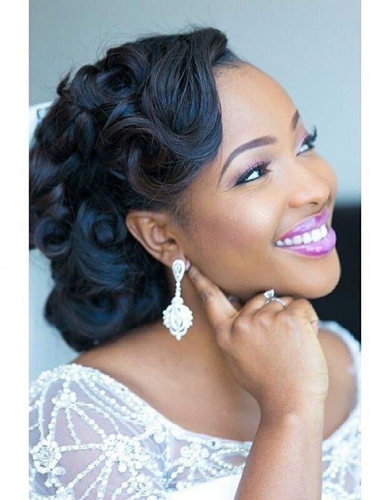 black women wedding hairstyles half up | great wedding