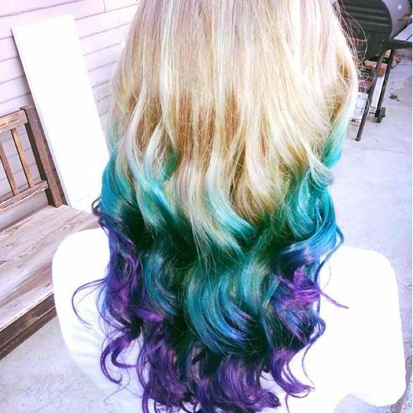 Teal And Purple Ombre Teal And Purple Hair Galaxy Hair Color