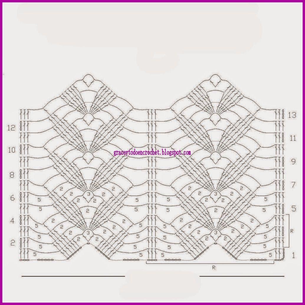 Grace y todo en Crochet: Beautiful stitch diagrams....Lindas ...