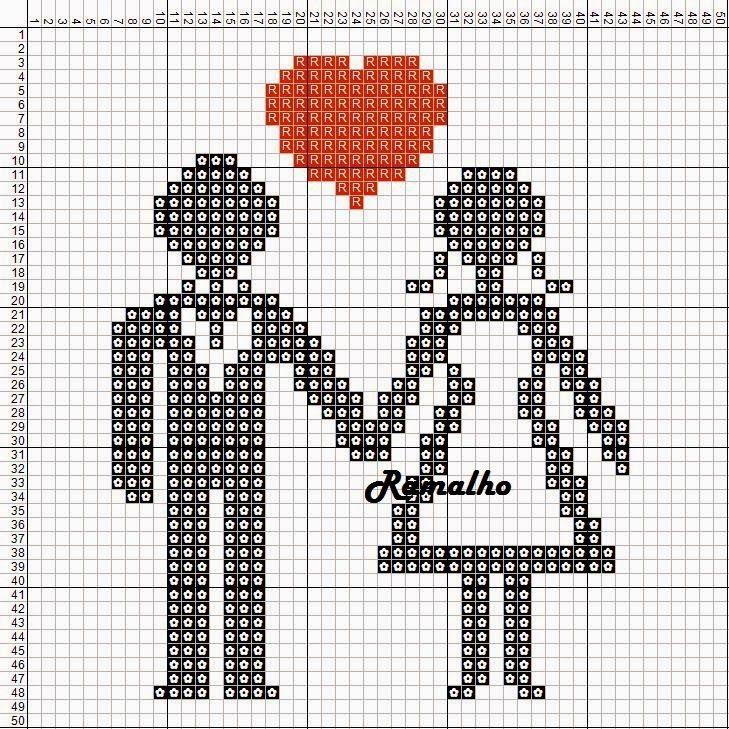 Pin von Bianca Tainá auf Ponto de Cruz - Love   Pinterest   Herz ...