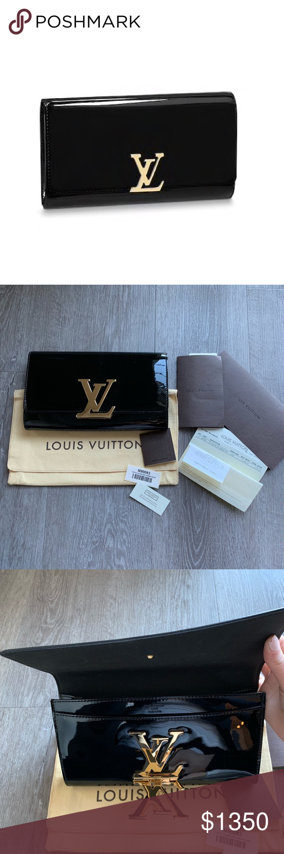 01322af51b04 Louis Vuitton Pochette Louise Ew Vernis Clutch Bag Louis Vuitton clutch  pochette Louise Ew vernis noi