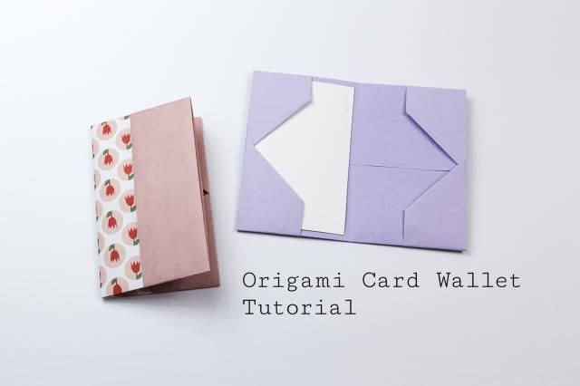 Easy origami business card case or wallet tutorial origami learn how to make a simple origami wallet to keep business cards or credit cards in reheart Images